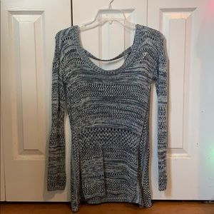 Blue and White Knitted Sweater, Small
